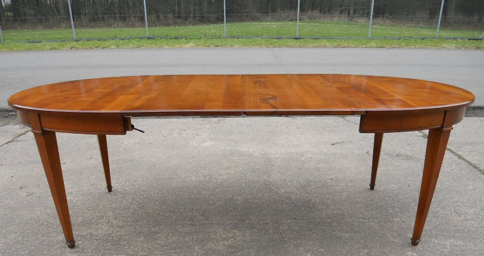 ... Oval, Walnut Extending Dining Table To Seat Ten   SOLD